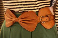 Leather Bow Belt - From Anthropologie Pretty Outfits, Cute Outfits, Fashionable Outfits, Work Outfits, Summer Outfits, Fashion Shoes, Fashion Accessories, Fashion Clothes, Bow Belt