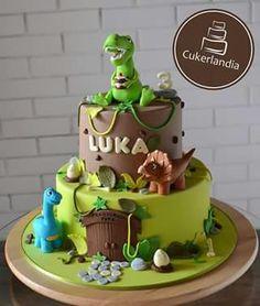 Orange cake without flour - HQ Recipes Dinosaur Birthday Cakes, Baby Birthday Cakes, Dinosaur Party, 4th Birthday, Birday Cake, Dino Cake, Drip Cakes, Savoury Cake, Creative Cakes