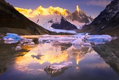 """""""The Jewels of Cerro Torre,"""" Laguna Torre, Patagonia, Argentina. Photograph by Michael Anderson"""