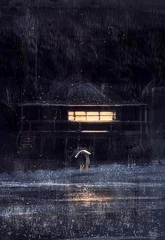 It is raining by PascalCampion on DeviantArt