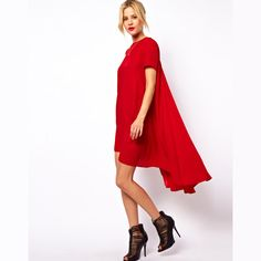Sweet dovetail type swing short sleeve one-piece dress length 3 6 full haoduoyi DX662 $20.72