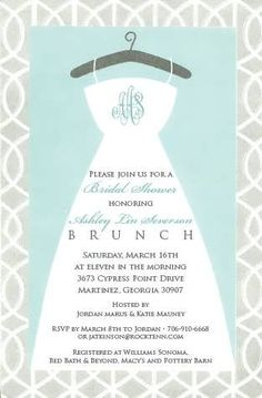 bubbles and brunch bridal shower invitations | 99 Wedding Ideas