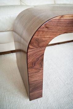 Wood Coffee Table / Walnut Accent Table / Walnut By KROMMdesign