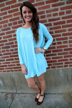 Light Blue Piko Tunic/Dress - obsessed with piko tunics! So comfy and pretty for spring!