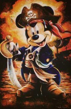 Fan Art of Mickey Pirate for fans of Disney 8036448 Disney Mickey Mouse, Walt Disney, Mickey Love, Mickey Mouse And Friends, Cute Disney, Wallpaper Do Mickey Mouse, Disney Wallpaper, Images Disney, Disney Pictures