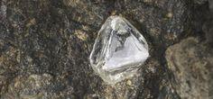 Diamond crystal in kimberlite. Robert Weldon © GIA. (021014)