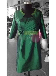 Photo 1 for Hot Natural waist Bateau neck style Mothers Taffeta Knee-length Sheath/Column Custom-Made Dress with Beading AND Pleated. http://www.dressoflove.com/6135-hot-natural-waist-bateau-neck-style-mothers-taffeta-knee-length-sheath-column-custom-made-dress-with-beading-pleated.html