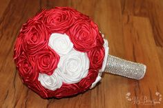 Mickey Inspired, Red & White Fabric Bouquet, Fairy Tale Wedding, Destination Wedding, Red Bouquet, Hidden Mickey   Perhaps with real flowers...