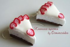 "Earrings ""Strawberry cake"""