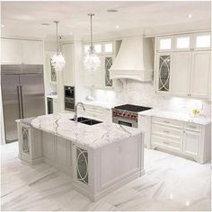 The kitchen that is top-notch white kitchen , modern kitchen , kitchen design ways! Luxury Kitchen Design, Luxury Kitchens, Interior Design Kitchen, Home Kitchens, Dream Kitchens, Kitchen Designs, Modern Kitchens, Kitchen Modern, Best Kitchen Countertops