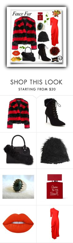 """Faux Fur"" by sylvia-cameojewels ❤ liked on Polyvore featuring McQ by Alexander McQueen, Venus, ALDO, Marni, Bella Freud, Lime Crime and STELLA McCARTNEY"