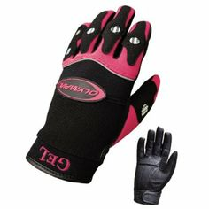 Amazon.com: Olympia 712 Gel Reflector Ladies Motorcycle Gloves (Black/Pink, Large): Automotive