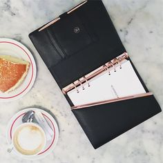 A meal in Paris is always a decision between a proper meal and a creamy, lush & smooth, orgasmic piece of cake! .  Our refills will start going on sale tomorrow (pre-orders). So you can use our refills with your Filofax or Kikki K binders.  That's our black Peony Planner with a touch of rose gold in the photo.  #happinessplanner