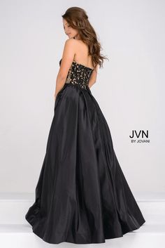 JVN Prom Collection, Style JVN45591A, Black, Sz. 12, $398 Available at Debra's Bridal Shop. Visit us at 9365 Philips Hwy., Jacksonville, Fl. 32256