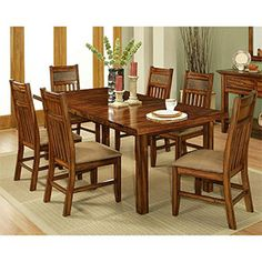 Ordinaire 212001 Marissa County Dining Table Top U0026 Base With Solid Cherry Wood  Construction And Table Top With Self Storing Leaves And Cable Glider  Mechanism In A ...