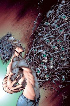 Someday I will let my demons out. Bd Comics, Image Comics, Anime Comics, Spawn Comics, The Crow, My Demons, Angels And Demons, Dark Fantasy Art, Dark Art