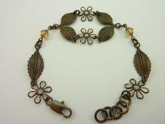 Leaf Connectors Bracelet by RomanticPrettyPieces on Etsy