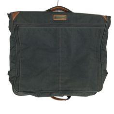 Vintage Pan Am Airline Dark Green Canvas Garment Bag Luggage Travel Dress Hanger #PanAm #vintage #gifts