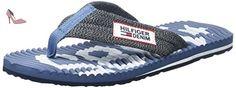Tommy Hilfiger B2385each 8d 1, Sandales Bout Ouvert Homme, Bleu (Denim 404), 43 EU - Chaussures tommy hilfiger (*Partner-Link)