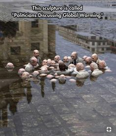 """Sculpture in Berlin called """"Politicians discussing global warming"""" By Issac Cordal Save Planet Earth, Save Our Earth, Save The Planet, Street Art Utopia, Follow The Leader, Energy Resources, Politicians, Global Warming, Go Green"""