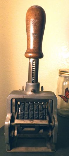 Large heavy vintage numbering machine  Please visit my FB page for more https://www.facebook.com/Joe.antique.store