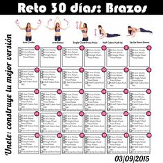 30 Day Arm Challenge Workouts arm challenge workouts can be very effective when you keep the right mindset. They are a great way to get yourself going and stay motivated while you tone your arms. Ready To Try A 30 Day Arm Challenge Workout? All you … Read Fitness Workouts, Fitness Herausforderungen, At Home Workouts, Health Fitness, Fitness Pilates, Fitness Tracker, Arm Workouts, Fitness Shirts, Fitness Quotes