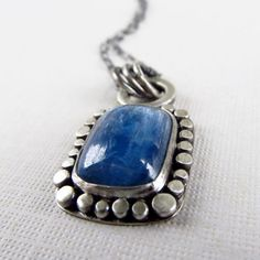blue kyanite sterling silver pendant necklace by laurenmeredith, $125.00