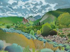 Impression Evergreen: Wasatch Mountains - Colored Pencil Drawing