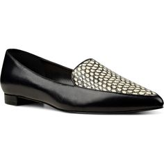 Nine West Abay Smoking Flats (450 GTQ) ❤ liked on Polyvore featuring shoes, flats, black multi leather, pointed toe ballet flats, black ballet shoes, flat shoes, black ballet flats and nine west shoes