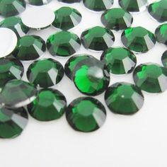 4mm Emerald Green Flatback Non-Hotfix Rhinestones - BULK 25,000 pieces - Loose, Bling, Nail Art, Decoden TDK-R068.2