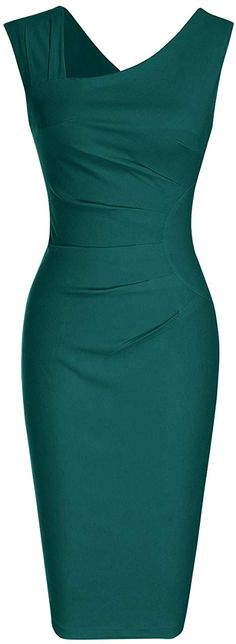 online shopping for MUXXN Women's Retro Style Sleeveless Slim Business Pencil Dress from top store. See new offer for MUXXN Women's Retro Style Sleeveless Slim Business Pencil Dress Women's Fashion Dresses, Dress Outfits, Fall Outfits, Vestidos Vintage, Vintage Dresses, 1950s Fashion, Vintage Fashion, Vintage Style, Business Casual Attire For Women