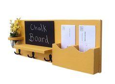Chalkboard Mail Organizer Coat Rack Mail Holder by LegacyStudio
