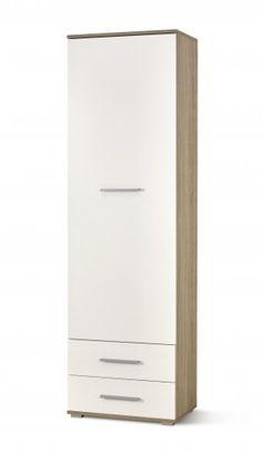 Dulap Lima Reg-1 White / Oak #homedecor #inspiration #homedesign White Oak, Filing Cabinet, Tall Cabinet Storage, House Design, Interior, Modern, Inspiration, Furniture, Home Decor