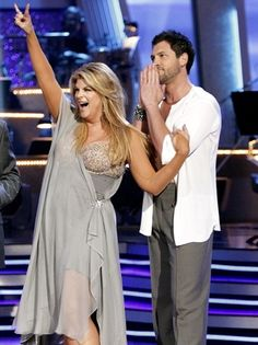 Watching Kirstie Alley and Maks on Dancing with the Stars.