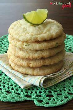 Chewy Coconut Lime Cookies from Lick The Bowl Good