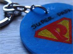 Porte-clés de Super Papa en plastique dingue 17/06/2013