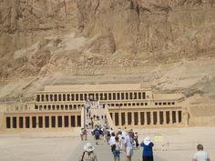 Queen Hatshepsut  Egypt's first female pharaoh - Hatshepsut's mortuary temple complex at Deir el-Bahri. Egypt