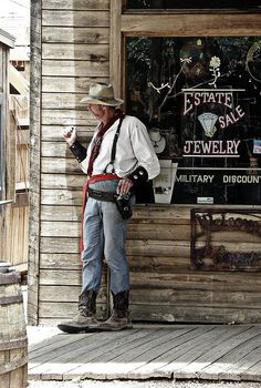A pic I took a couple years ago...just a cowboy up to no good.