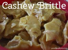 Cashew Brittle - This recipe is SO easy to make.
