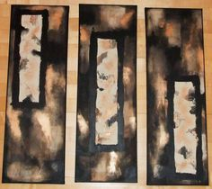 """""""Raku"""" Acryl on canvas Triptych, Abstract Art, Canvas, Painting, Abstract, Kunst, Pictures, Tela, Tri Fold Brochure"""
