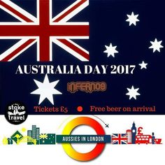 The countdown is on to #australiaday2017! Grab your 5 tickets via the booking link on Facebook and come party with us at @infernos_clapham! #aussiesinlondon #straya #strayaday #australiaday #drinkswithmates