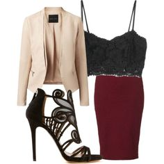 A fashion look from January 2015 featuring MANGO tops, Lipsy skirts and Tabitha Simmons sandals. Browse and shop related looks.