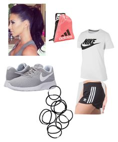 """""""Gym outfit 😍👌🏽"""" by anjalee75 on Polyvore featuring adidas, NIKE and Monki"""