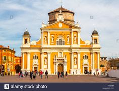 Piazza dei Martiri, Carpi, One of the largest squares in Italy in the province of Modena. Stock Photo The Province, Squares, Cities, Youth, Italy, Stock Photos, Mansions, House Styles, Building