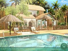 Caribbean Pearl house by Cross Architecture for The Sims 4