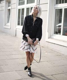 Sommerkleid, Maje, Herbst, Levi's, Jeansjacke, Bibi Lou, vegan, Stella McCartney, Herbst, Fall, Autumn, lotd, Look, Style, Outfit, ootd, inspo, fashion, Blog, stryleTZ