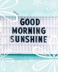 Good morning sunshine // via @Tayst