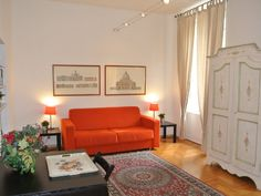 Holiday Apartment in Rome, Italy Very central apartment sleeps 4 Roman Holiday, Holiday Apartments, Italian Style, Ideal Home, Villa, Couch, Rome Italy, Vacation, Flat