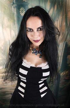 Black Alyss Mini Dress by Moonmaiden Gothic Clothing UK