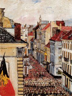 Music in the Rue de Flandre. James Ensor